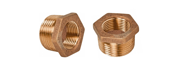 Bronze pipe reducer hex bushings threaded fittings
