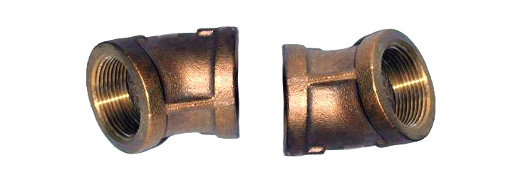 Bronze elbow fitting degree fnpt threaded fittings
